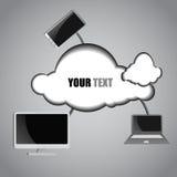Fondo di calcolo della nuvola e del computer royalty illustrazione gratis