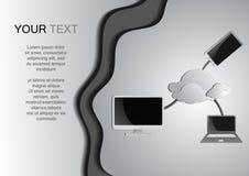 Fondo di calcolo della nuvola e del computer illustrazione vettoriale