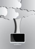 Fondo di calcolo della nuvola e del computer Immagine Stock