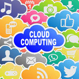 Fondo di calcolo di applicazioni della nuvola variopinta Immagini Stock Libere da Diritti