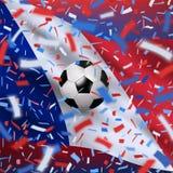 Fondo di campionato del mondo di calcio Immagine Stock Libera da Diritti