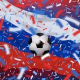 Fondo di campionato del mondo di calcio Fotografia Stock Libera da Diritti
