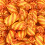 Fondo di Candy, rappresentazione 3D Immagini Stock Libere da Diritti