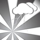 Fondo di carta di stile del bullone e della nuvola illustrazione vettoriale