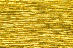 Fondo di carta di struttura dell'oro Immagini Stock