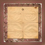 Fondo di carta estraneo con l'ornamentale per l'annuncio Immagine Stock Libera da Diritti