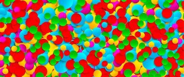 Fondo di carta festivo multicolore dei coriandoli Vector l'illustrazione per la decorazione delle feste, le cartoline, i manifest illustrazione vettoriale