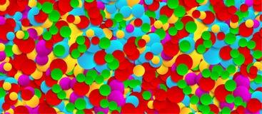 Fondo di carta festivo multicolore dei coriandoli Vector l'illustrazione per la decorazione delle feste, le cartoline, i manifest illustrazione di stock