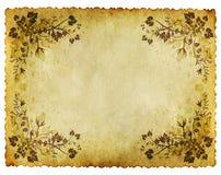 Fondo di carta floreale di vecchio lerciume Fotografia Stock