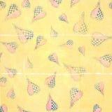 Fondo di carta piegato indossato cuori funky di artistico Fotografia Stock