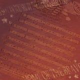 Fondo di carta rosso di lerciume patriottico di stelle e strisce Immagine Stock