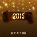 Fondo 2015 di celebrazione del buon anno con illustrazione di stock