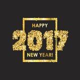 Fondo 2017 di celebrazione del nuovo anno con i coriandoli Fotografia Stock Libera da Diritti
