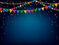 Fondo di celebrazione di festa con una ghirlanda Immagini Stock