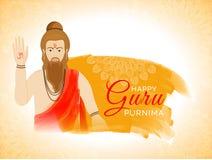 Fondo di celebrazione di purnima di Guru con l'illustrazione dell'indiano illustrazione vettoriale