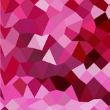Fondo di Cerise Pink Abstract Low Polygon Fotografia Stock