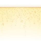Fondo di Champagne - orizzontalmente mattonella-capace Fotografie Stock Libere da Diritti