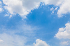 Fondo di cielo blu Fotografia Stock Libera da Diritti