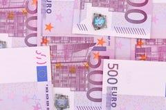 Fondo di cinquecento un euro banconote Fotografie Stock Libere da Diritti
