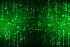 Fondo di codice binario, fondo astratto di tecnologia di Digital fotografia stock libera da diritti