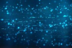 Fondo di codice binario, fondo astratto di tecnologia di Digital royalty illustrazione gratis