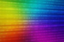 Fondo di codice binario dell'arcobaleno immagine di sfondo dell'illustrazione Fotografia Stock Libera da Diritti
