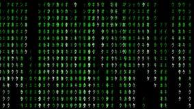 Fondo di codice della matrice stock footage