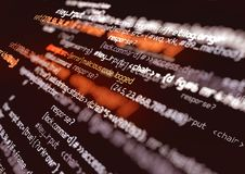 Fondo di codice dello script di errore del computer illustrazione vettoriale