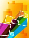 Fondo di colore con i quadrati. illustrazione di stock