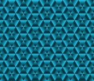 Fondo di colore di Abstrack, triangoli blu Immagini Stock