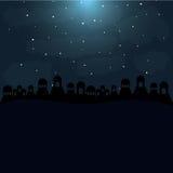 Fondo di colore nella notte del deserto di Betlemme Immagine Stock