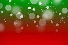 Fondo di colore rosso e verde con bokeh Immagini Stock Libere da Diritti