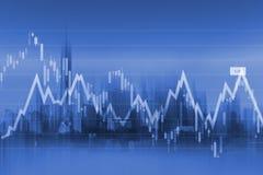 Fondo di commercio di valuta Fotografie Stock