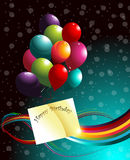 Fondo di compleanno. Fotografie Stock