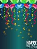 Fondo di compleanno con i palloni variopinti immagine stock libera da diritti