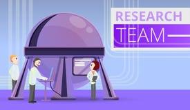 Fondo di concetto del gruppo di ricerca, stile del fumetto royalty illustrazione gratis