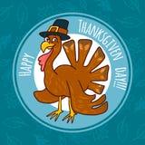 Fondo di concetto del tacchino di ringraziamento, stile disegnato a mano illustrazione vettoriale
