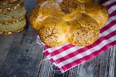 Fondo di concetto dell'alimento del pane Fotografie Stock Libere da Diritti