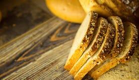 Fondo di concetto dell'alimento del pane Fotografia Stock
