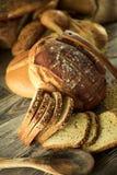 Fondo di concetto dell'alimento del pane Immagini Stock Libere da Diritti