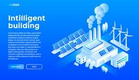 Fondo di concetto della casa intelligente, stile isometrico illustrazione vettoriale