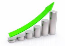 fondo di concetto di aumento di vendite 3D Fotografia Stock