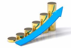 fondo di concetto di aumento di vendite 3D Immagini Stock