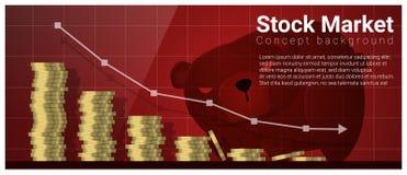 Fondo di concetto di finanza e di affari con il mercato azionario royalty illustrazione gratis