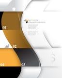 Fondo di concetto di infographics degli elementi dell'onda di vettore Fotografia Stock Libera da Diritti