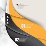 Fondo di concetto di infographics degli elementi dell'onda di vettore Fotografie Stock