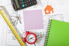 Fondo di concetto di Real Estate Fotografia Stock Libera da Diritti