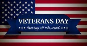 Fondo di concetto di giornata dei veterani degli S.U.A., stile realistico royalty illustrazione gratis