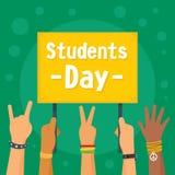 Fondo di concetto di giorno degli studenti, stile piano royalty illustrazione gratis