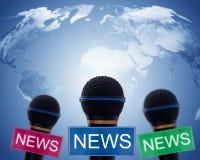 Fondo di concetto di notizie Fotografia Stock Libera da Diritti